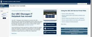 UBC IT Okanagan Online Helpdesk is moving!