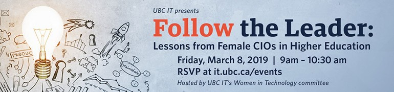 Follow the Leader: Lessons from Female CIOs in Higher Education Event